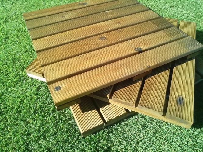 Baldosas para jardin con este proyecto podrs darle un - Baldosas de madera ...