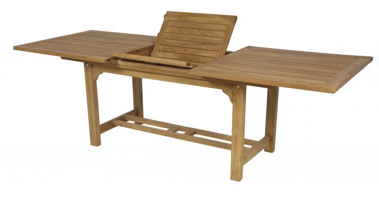 Mesa bali rectangular mobiliario exterior cat logo for Como hacer una mesa extensible