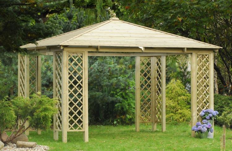 porche rimini elementos de jard n cat logo garden house madera. Black Bedroom Furniture Sets. Home Design Ideas